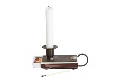 svícny kovové a skleněné