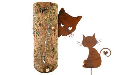 kovové dekorace s rezavou patinou