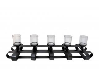 obrázek Kovový svícen na 5 čajových svíček