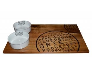 obrázek Servírovací prkénko na sýry s 2 miskami