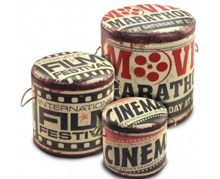 obrázek Set 3 taburetů cinema s úložným prostorem
