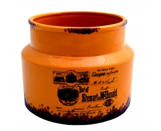obrázek Nízká keramická dóza orange