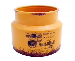 obrázek Nízká keramická dóza yellow