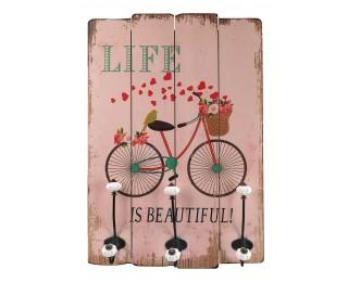 obrázek Nástěnný věšák Bicycle růžový