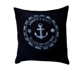 obrázek Povlak na polštář s námořnickým motivem