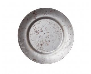 obrázek Kovová miska pod květináč s patinou 15 cm