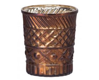 obrázek Svícen na čajovou svíčku měděný matný