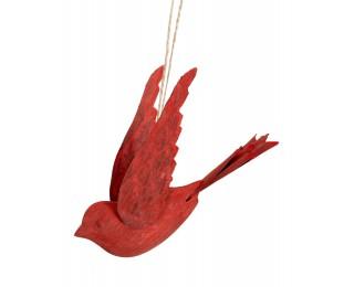 obrázek Kovový ptáček červený