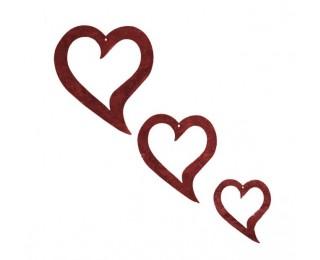 obrázek Závěsná dekorace vykrojené srdce
