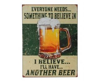 obrázek Plechová cedule beer 2