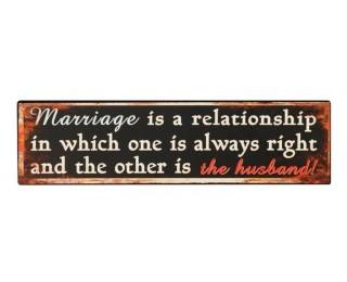 obrázek Plechová cedule marriage