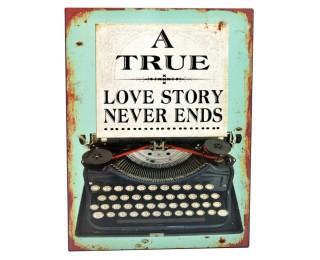 obrázek Plechová cedule love story