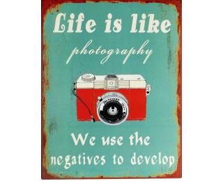 obrázek Plechová cedule photography