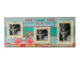 obrázek Fotorámeček na zeď na 3 fotografie