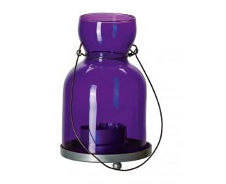 obrázek závěsný svícen fialový malý