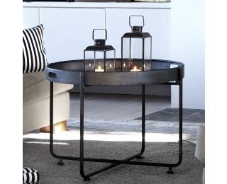 obrázek Odkládací stolek kulatý kovový L