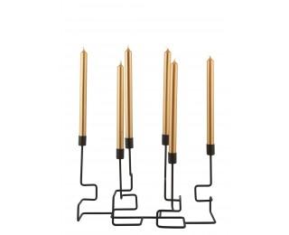 obrázek svícen geometrický na 6 svíček