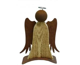 obrázek vánoční anděl s kovovými křídly 28cm