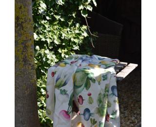 obrázek lněný ubrus zelenina