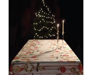 obrázek vánoční ubrus baňky