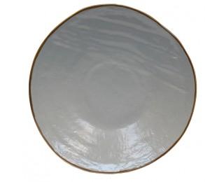 obrázek talíř šedý mělký 28 cm