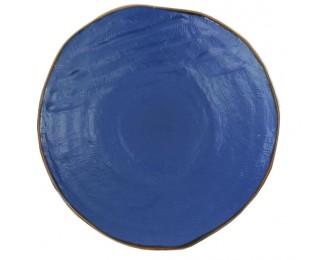 obrázek talíř modrý mělký 28 cm