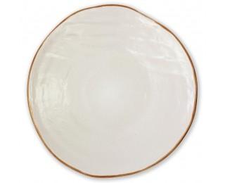 obrázek talíř bílý mělký 28 cm