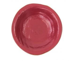 obrázek talíř hluboký červený 24 cm