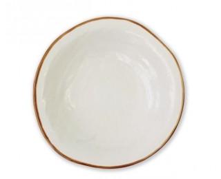 obrázek talíř hluboký bílý 24 cm