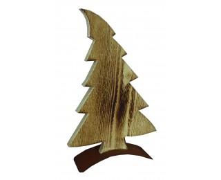 obrázek vánoční dekorace dřevěný strom 43 cm