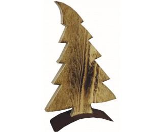 obrázek vánoční dekorace dřevěný strom 53 cm