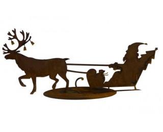 obrázek vánoční dekorace santa na saních