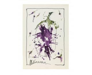 obrázek Lněná kuchyňská utěrka lilek