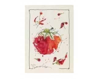 obrázek Lněná kuchyňská utěrka rajče