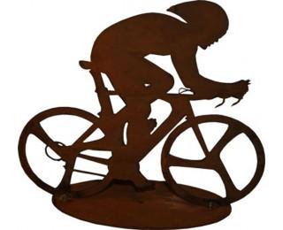 obrázek dekorace cyklista z kovu