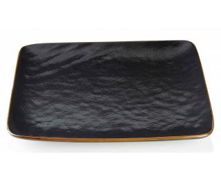 obrázek talíř mělký čtvercový černý 27 cm