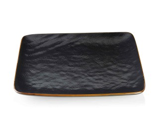 obrázek talíř dezertní čtvercový černý 21 cm