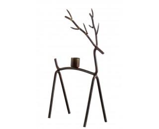 obrázek Vánoční svícen jelen hnědý M
