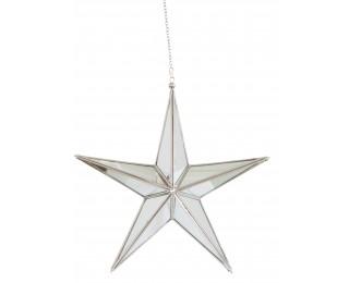 obrázek vánoční hvězda skleněná XL