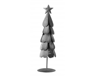 obrázek Kovový stromeček s patinou šedý M