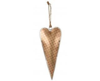 obrázek Dekorativní plechové srdce zlaté závěsné
