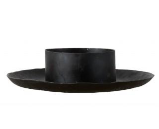 obrázek Černý kovaný svícen na 8 cm svíčku