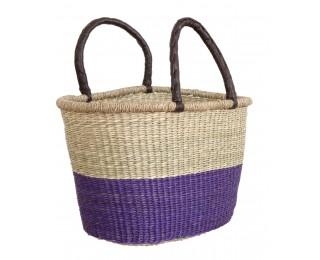 obrázek Koš z mořské trávy fialový