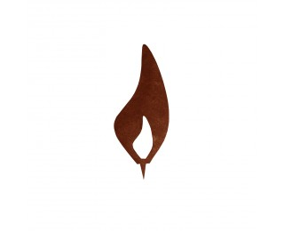 obrázek Kovový plamínek 15cm s trnem