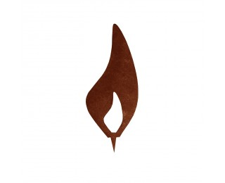 obrázek Kovový plamínek 20cm s trnem