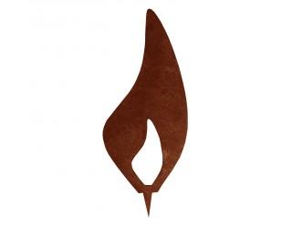 obrázek Kovový plamínek 30cm s trnem