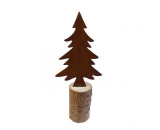 obrázek Stromeček kovový na špalku 22 cm