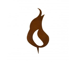 obrázek Kovový plamínek 18cm s trnem