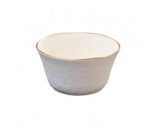 obrázek Velká bílá miska na polévku nepravidelná