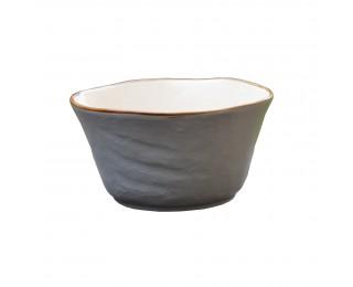 obrázek Velká šedá miska na polévku nepravidelná